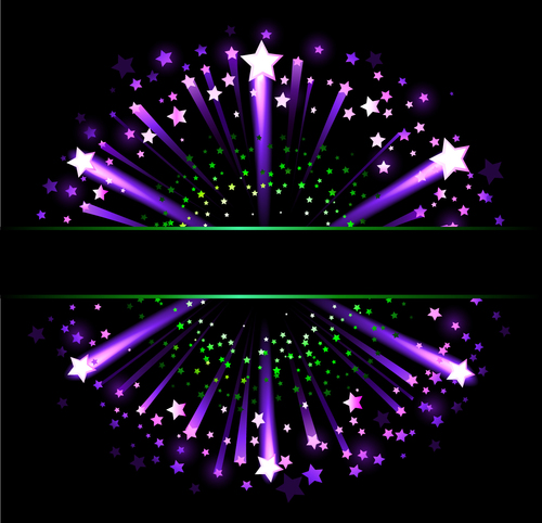 Purple stars vector