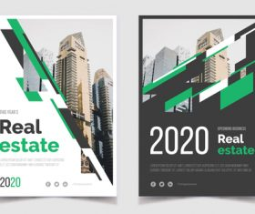 Real estate business poster apartment vector