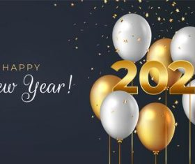 Realistic new year 2021 background vector