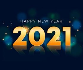 Realistic new year 2021 vector