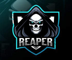 Reaper game mascot design vector