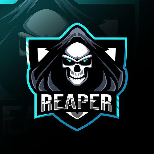 Reaper game mascot design vector