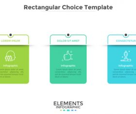 Rectangular choice template information vector