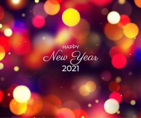 Red and yellow abstract 2021 new year background vector