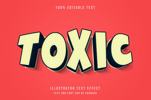 Red background yellow editable font effect text vector