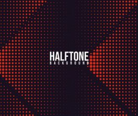 Red black halftone background vector