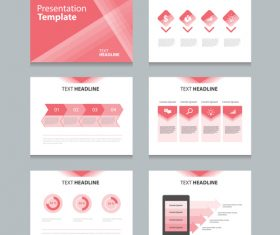 Red business chart information vector
