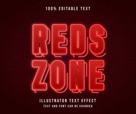 Red editable font effect text vector on brown background