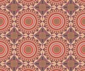 Red geometric ornament seamless pattern vector