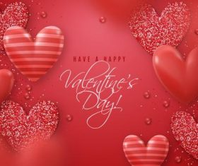 Red valentine's day greeting card vector