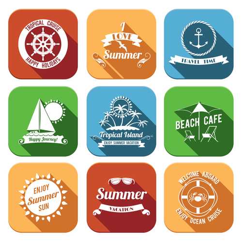 Resort icon vector