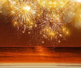 Resplendent firework vector