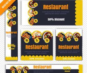 Restaurant poster vector
