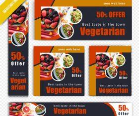 Restaurant vegetarian poster vector