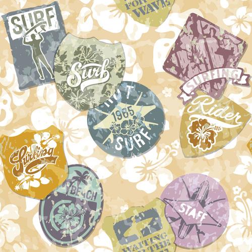 Retro cartoon label vector