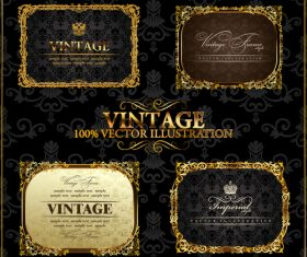 Retro labels frame vector