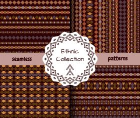 Rhombus ethnic seamless pattern vector