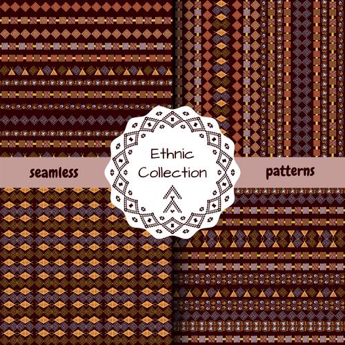 Rhombus ethnic seamless pattern vector