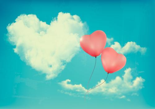 Romantic sky vector