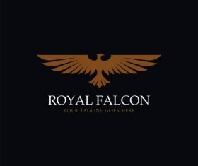 Royal falcon logo design vector