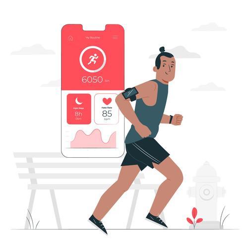 Running cartoon illustration vector