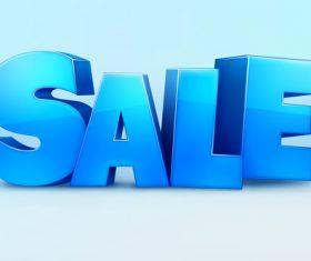 Sale blue editable font vector