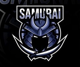 Samurai game mascot design vector