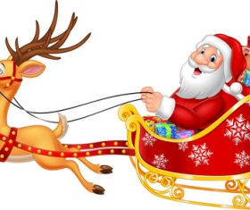 Santa and sleigh vector