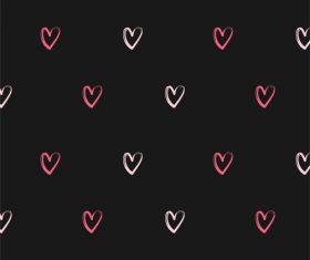 Seamless heart pattern background vector