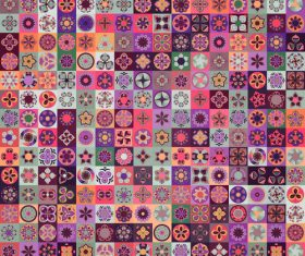 Seamless pattern ethnic ornament design vector