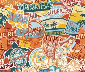 Seaside vacation label vector