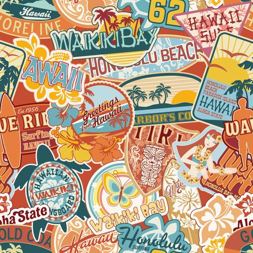 Seaside vacation label vector