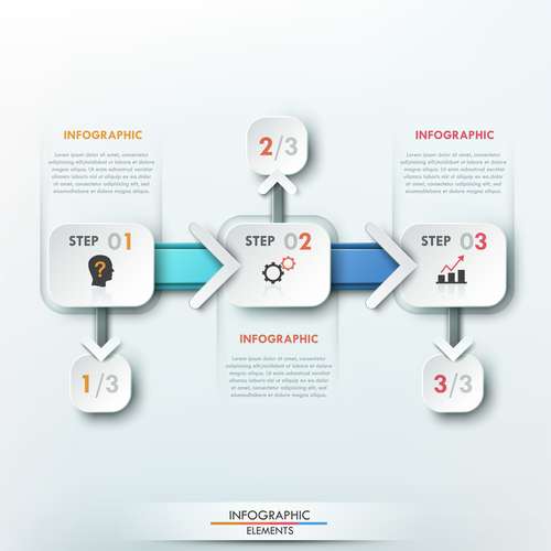 Segmented templates of Infographics vector