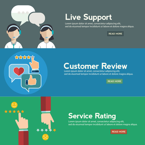 Service and support banner vector
