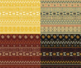 Set of ethno seamless background pattern vector