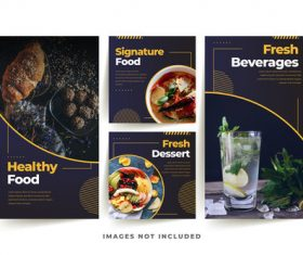 Signature food poster vector