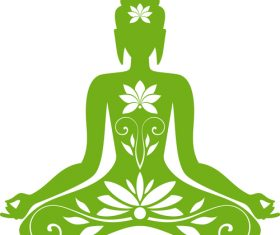 Sitting buddha vector