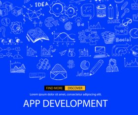 Sketch invert app development concept vector