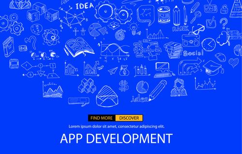 Sketch invert app development concept vector