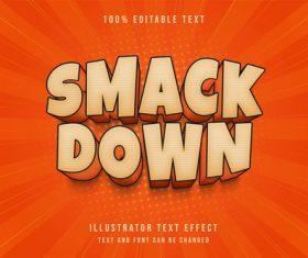 Smack down 3d editable text vector