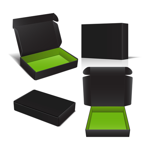 Small object commodity packaging box vector