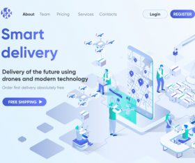 Smart delivery concept vector
