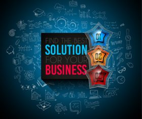 Solution for your business information background vector