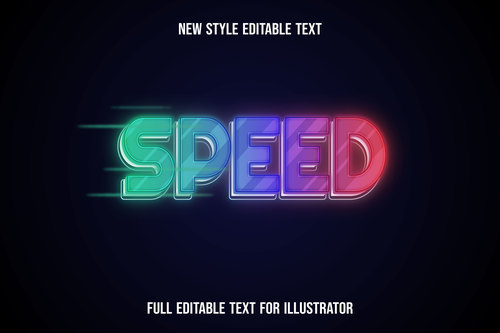 Speed text style effect vector