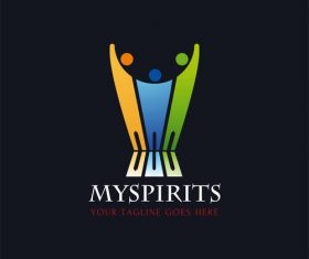 Spirits logo design vector