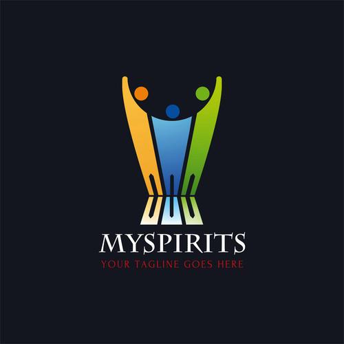 Spirits logo design vector