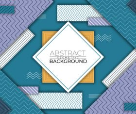 Square abstract geometric vector background style