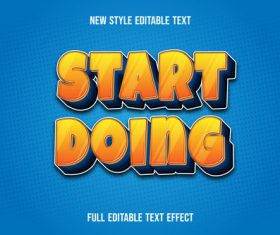 Start doing editable font effect text vector