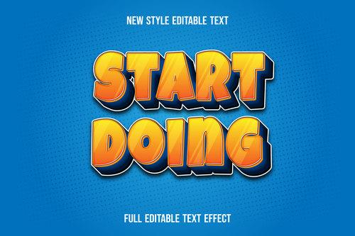 Start doing editable font effect text vector