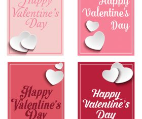 Sticker heart shaped greeting card vector